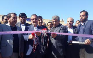 مراسم افتتاحیه آبرسانی به روستاهای قلعه گنج - شرکت جهاد نصر کرمان