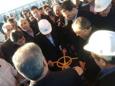 مراسم آغاز پروزه خط انتقال گاز 16 اینج تربت حیدریه - کاشمر - شرکت جهاد نصر کرمان