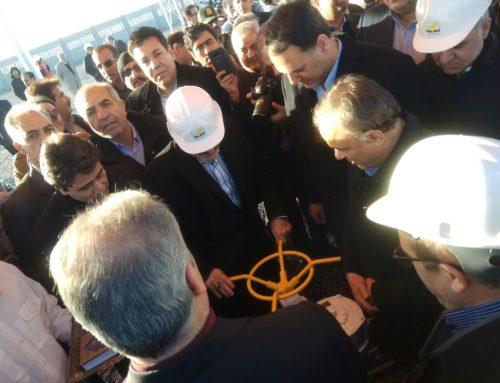 مراسم بهره برداری رسمی و آغاز پروژه خط انتقال گاز ۱۶ اینچ تربت حیدریه _ کاشمر ، بهمن 97