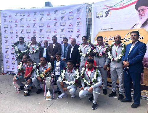 مراسم استقبال از قهرمانان تیم فوتبال آرمان گهر سیرجان(جهاد نصر کرمان)