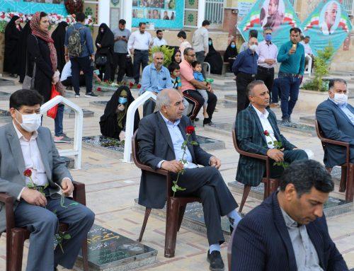 مراسم گلباران گلزار شهدا در جوار مزار سردار دلها شهید حاج قاسم سلیمانی
