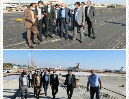 بازدیداقای صفایی معاون عملیات فرودگاهی از روند تکمیل پروژه های در دست اجرا در فرودگاه بین المللی بندرعباس